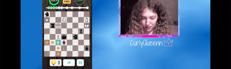 CurlyQueenn Twitch streams Chess Puzzle Blitz